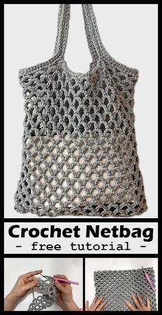 Net Bag Crochet Crochet your own net bag with free tutorial. Net Bag Crochet Crochet your own net bag with free tutorial. Bag Crochet, Crochet Market Bag, Crochet Handbags, Crochet Purses, Crochet Crafts, Crochet Stitches, Crochet Baby, Crochet Projects, Crochet Amigurumi