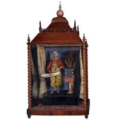 A French Animated Clown Magician Music Box, Attributed to Phalibois of Paris, Circa 1880 | From a unique collection of antique and modern curiosities at http://www.1stdibs.com/furniture/more-furniture-collectibles/curiosities/