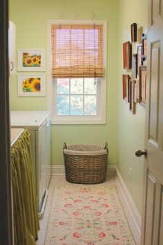 laundry room. Love the green