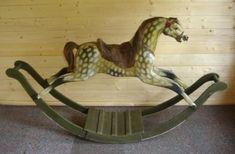 F H Ayres antique bow rocking horse