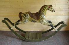 F H Ayres antique bow rocking horse