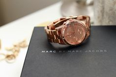 Pink gold Marc Jacobs watch. Time to get one!