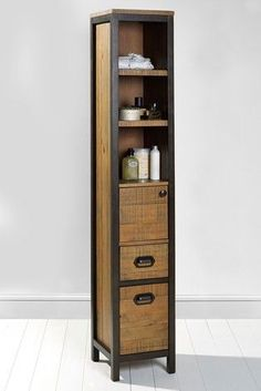 Iron Furniture, Steel Furniture, Unique Furniture, Home Furniture, Furniture Design, Vintage Industrial Furniture, Woodworking Projects Diy, Bathroom Interior, Wood And Metal