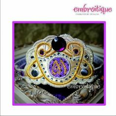 In The Hoop - Dazzling Diadem Monogram Princess Tiara - in the hoop on sale now at Embroitique!