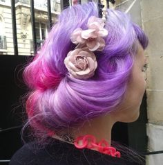 Lavender & pink hair... love this combo!