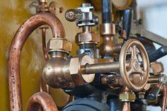 Bilderesultat for steam engine brass pipes