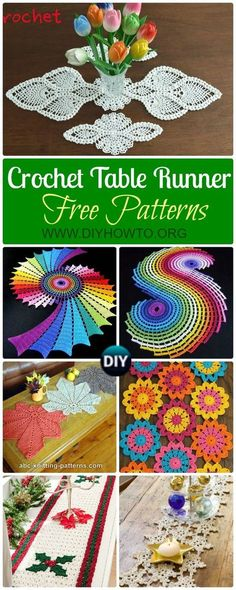 Crochet Doilies 42286 Collection of Crochet Table Runner Free Patterns: Crochet Puff Pineapple Table Runner, Spiral Table Path, Snowflake, Christmas, Autumn leaf Table Runner via Crochet Table Topper, Crochet Table Runner Pattern, Free Crochet Doily Patterns, Crochet Doily Rug, Crochet Motifs, Crochet Snowflakes, Thread Crochet, Free Pattern, Easy Crochet