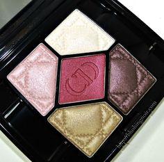 Dior Trafalgar 5 Couleurs Eyeshadow Palette Swatches, Review + Looks via @blushingnoir