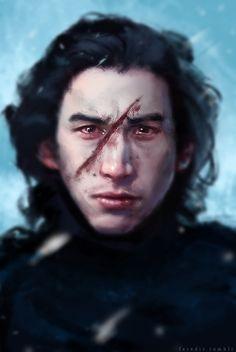 Kylo Ren fanart from Star Wars Episode VII The Force Awakens  #kyloren #stormpilot #emokyloren