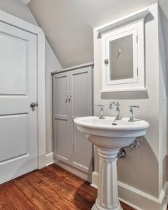 Updated Full Attic Bath with linen storage and penny tile shower @ Summit, New Jersey Kitchen Layout, Kitchen Design, Home Addition Cost, Penny Tile, Linen Cabinet, Linen Storage, Architecture Plan, Large Homes, Bathroom Renovations