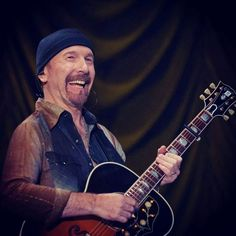 The Edge~U2. Hands down, the greatest guitarist, I've ever heard. Truly gifted, yet so modest. Love him!