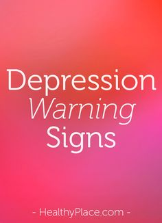 Knowing the signs of depression in women and men, and child and teenage depression signs, is critical to spotting depression early. Info on signs of depression.   www.HealthyPlace.com