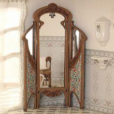 Screen room divider miniature dollhouse on pinterest - Art nouveau mobili ...