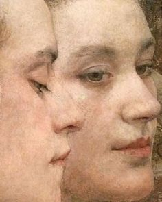 Edgard Maxence – Fleurs du lac, 1900 - Detail (worth pinning twice, at least) Potrait Painting, Painting & Drawing, Rose Croix, L'art Du Portrait, Art Graphique, Face Art, Figure Painting, Art Techniques, Figurative Art