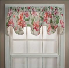 Florence Scallop Valance Top Treatment for bathroom or kitchen curtains | Best Window Treatments