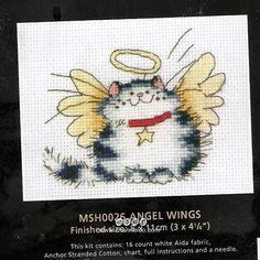 Good Life 2 Go: Free Cross Stitch Chart: Angle Wings
