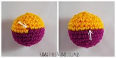 good pictures show how to change yarn Crochet Ball, Knit Or Crochet, Cute Crochet, Crochet Crafts, Crochet Toys, Crochet Stitches, Crochet Projects, Amigurumi Patterns, Crochet Patterns