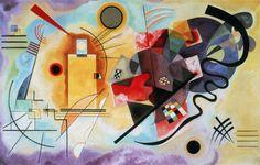 kadinsky    Giallo, rosso e blu, famoso dipinto di Kandinskij