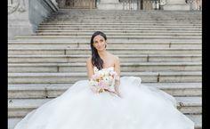 Marwa & Nick | realweddings / Dress by Hayley Paige