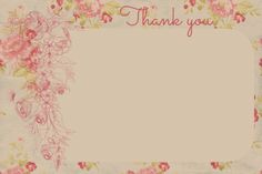Beautiful Thank You Cards  Free Printables !