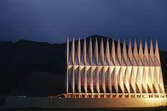 US Airforce Academy Chapel. Walter Netsch of Skidmore, Owings & Merrill. 1962. Colorado Springs