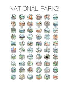 Parks Poster Scratch Off Print - Bucketlist - United States National Parks - Scratch Stamps - Wedding Gift- Dorm Room- Halloween For Debbie and Bill! National Parks Poster Scratch Off Print Bucketlist United National Park Posters, Zion National Park, Us National Parks List, National Park Passport, Oh The Places You'll Go, Places To Travel, Travel Destinations, On The Road Again, Scratch Off