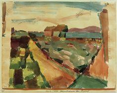 "Landhäuser am Strand – TunisKlee, Paul. Swiss-German painter, 1879–1940. – ""Landhäuser am Strand – Tunis"" (""Country houses by the beach – Tunis""), 1914, 214. Watercolour on paper, mounted on card, 21.9 × 28.6cm. Inv. no. PKS F 160 Bern, Paul Klee Museum."