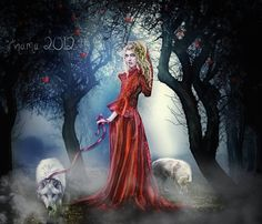 walk with the wolves by irinama.deviantart.com on @deviantART