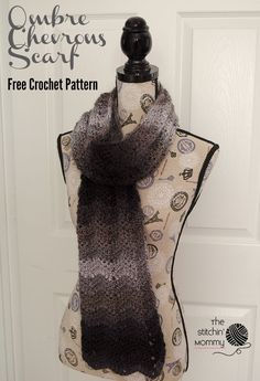 Free crochet pattern: Ombre Chevrons Scarf (Scarf of the Month Club) by The Stitchin' Mommy