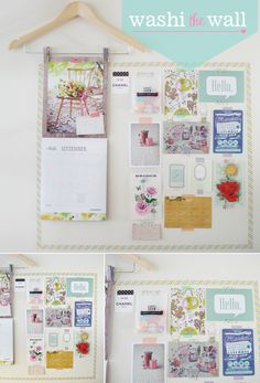 Washi tape your wall, fun and easy diy. #DIY #washi #tape #stationery