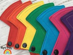 £17 for 5 - Cloth Pad Multipack Slim Fit Liners CSP Bright by NgoziSews