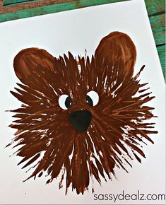 Kids Bear Craft Using a Fork - Crafty Morning