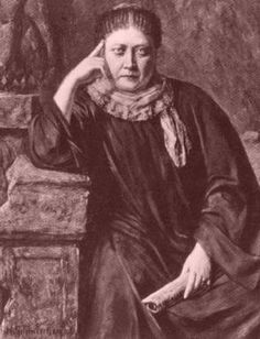 HP Blavatsky in 1884 (as painted by Hermann Schmiechen) Helena Blavatsky, Theosophical Society, Marina Abramovic, Aleister Crowley, Ascended Masters, Canvas Paper, Alchemy, Occult, Buddhism