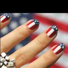 Fourth of July nails. I may have to do this to my toes