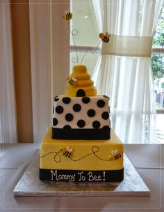 Bumblebee The Spotted Chick Baby Shower Jeanie Witmer Baby Shower Themes, Baby Shower Decorations, Baby Shower Parties, Baby Showers, Shower Ideas, Bumble Bee Cake, Bumble Bees, Bee Cakes, Cupcake Cakes