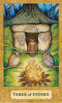 Belle Constantinne -  Three of Stones - Coins -  Chrysalis Tarot One of my favorite cards! awakenpastlives.com