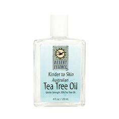 <b> Desert Essence Kinder to Skin Australian Tea Tree Oil <b>Description:</b> </b>  <br>Gentle Strength 20% Tea Tree Oil Desert Essence Kinder to Skin Australian Tea Tree Oil is a water-soluble Tea Tree Oil solution for sensitive skin. Free Of Animal ingredients or testing, artificial detergents, color or synthetic perfumes. Disclaimer These statements have not been evaluated by the FDA. These products are not intended to diagnose, treat, cure, or prevent any disease.<br><b>Product Features…
