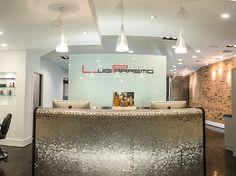 Luigi Parasmo Salon@Washington, DC #Salon Interior #Salon Today #Reception Desk