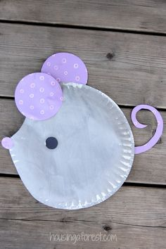 Paper Plate Mouse Craft