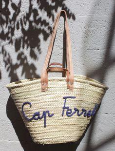 L'atelier Des Petites Bauloises: Panier de plage CAP FERRET