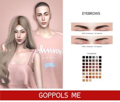 Sims 4 Cc Packs, Sims 4 Mm Cc, Sims 4 Mods Clothes, Sims Mods, Asian Eyebrows, The Sims 4 Skin, Sims 4 Traits, Sims 4 Cc Makeup, Sims 4 Characters