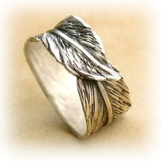 Banana Leaf Fine Silver Ring