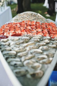 Raw bar for cocktail reception