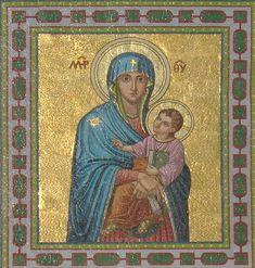Viktor Foerster - Madona na průčelí kostela Panny Marie Sněžné