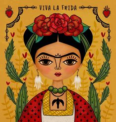 I needed another Frida fix. ❤️❤️❤️❤️ . . . . #makeartthatsells #illustratorlife #digitalillustration #dailydraw #childrensillustration #art_we_inspire #childrensbookillustration #picame #photoshopart #licensing #artlicensing #saintfrida #friducha #fridakahlo #vivalafrida