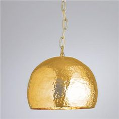 Hammered Metal Pendant Brass or Nickel via Shades of Light