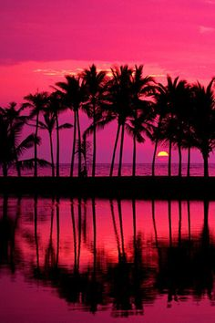 Sunset in Hawaii.