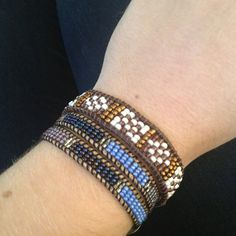 Seed bead wrap bracelets by Crescent Lane Jewelry.