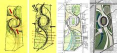 09 Incheon Stadium Modern Architecture Plan Layout diagramming