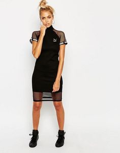 Puma | Puma Exclusive to ASOS Bodycon Dress With Mesh Inserts